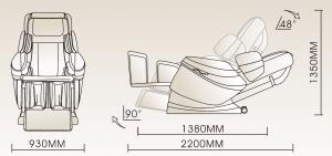 Massagestoel SL-A50 afmetingen